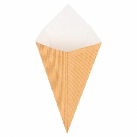 Cornet à frites carton kraft naturel 100g par 100