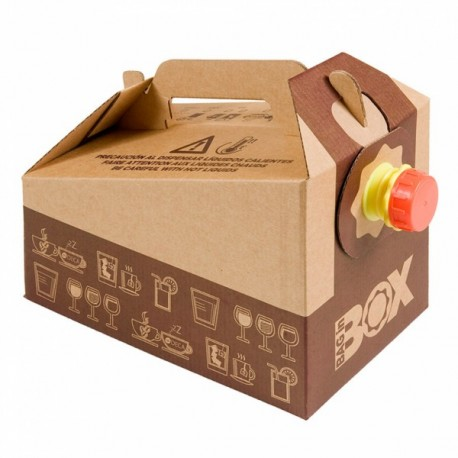 Bag in box de 3 L en carton recyclable biodégradable