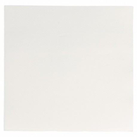 Serviette papier jetable biodégradable double point 33x33 cm blanc par 50