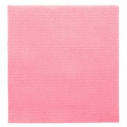 Serviette papier jetable biodégradable double point 33x33 cm Rose par 50
