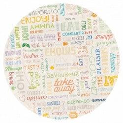 Assiette en carton ronde 18 cm recyclable motif parole par 100
