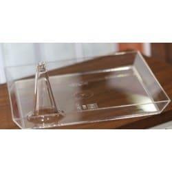 Soucoupe rectangulaire Starck 16 X 12 CM cristal réutilisable par 25