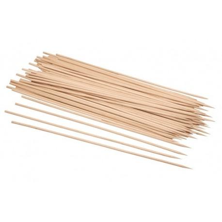 Pique brochette barbecue en bois naturel 30cm par 200