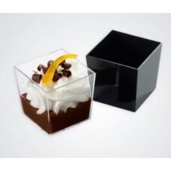 Verrine réutilisable mini craps cube noire par 36