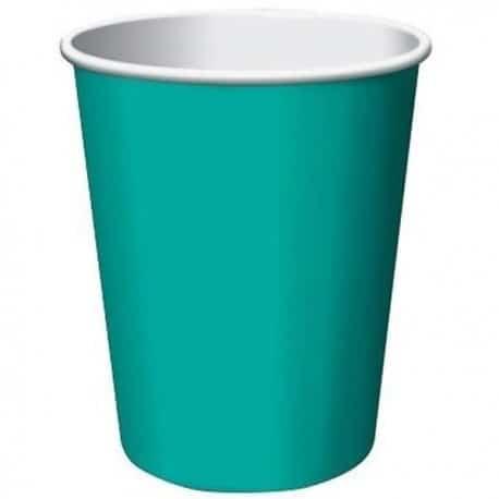 Gobelet uni en carton couleur turquoise 24 cl par 50