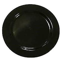 Assiette ronde 15 cm noire réutilisable- recyclable