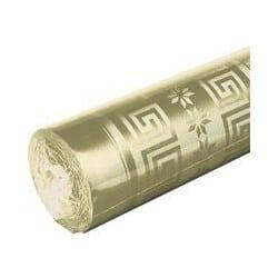 Nappe en papier damassé Or rouleau 1.20x25 m