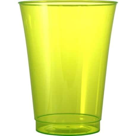 Verre en plastique dur couleur vert anis