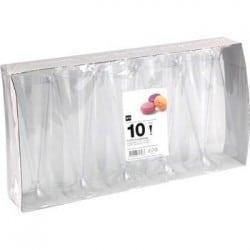 Colis de 100 flûtes à champagne design cristal
