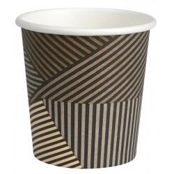 Gobelet café carton recyclable décor design 10 cl par 50