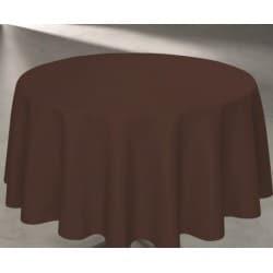 Nappe intissé ronde 240 cm de diamètre couleur marron chocolat