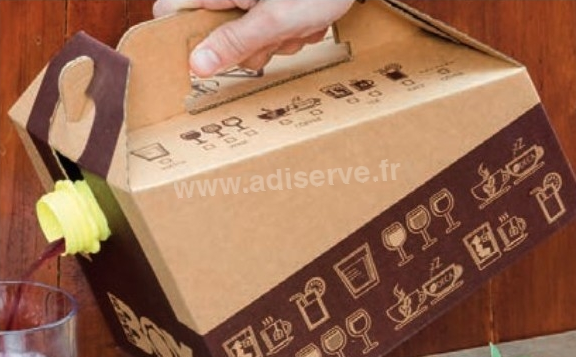 Bag in box : distributeur de boisson en carton