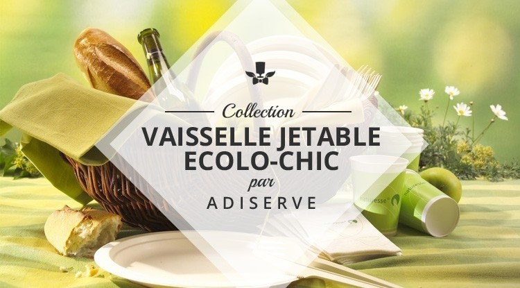 Vaisselle jetable ecolo-chic